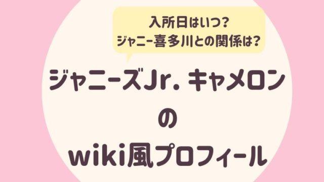 ジャニーズJr.キャメロンのwiki風プロフィール