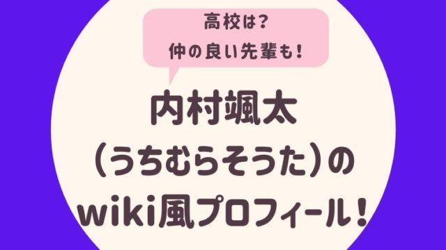 内村颯太のwiki風プロフィール2