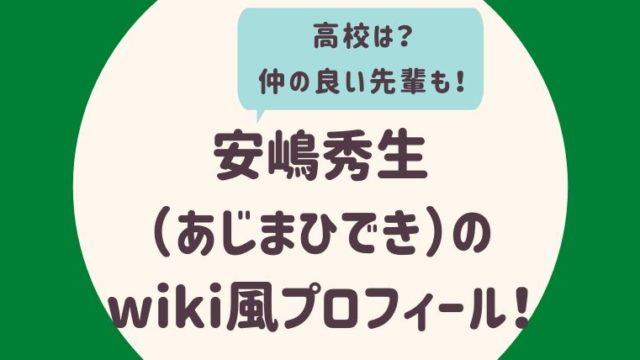 安嶋秀生のwiki風プロフィール2